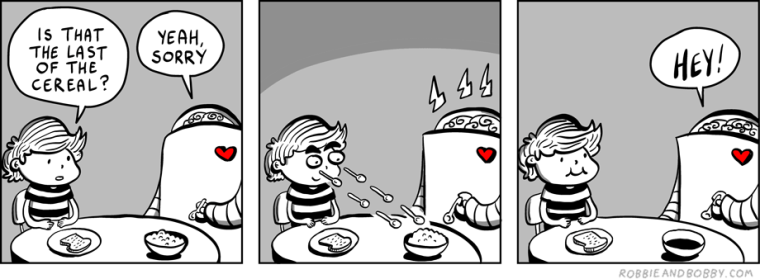 Breakfast Envy | Robbie and Bobby Comics | TBL part one