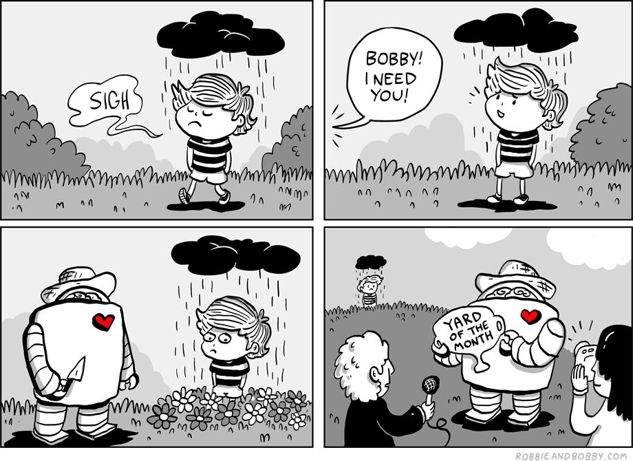 Rain-Cloud   Robbie and Bobbie Comics   TBL part one