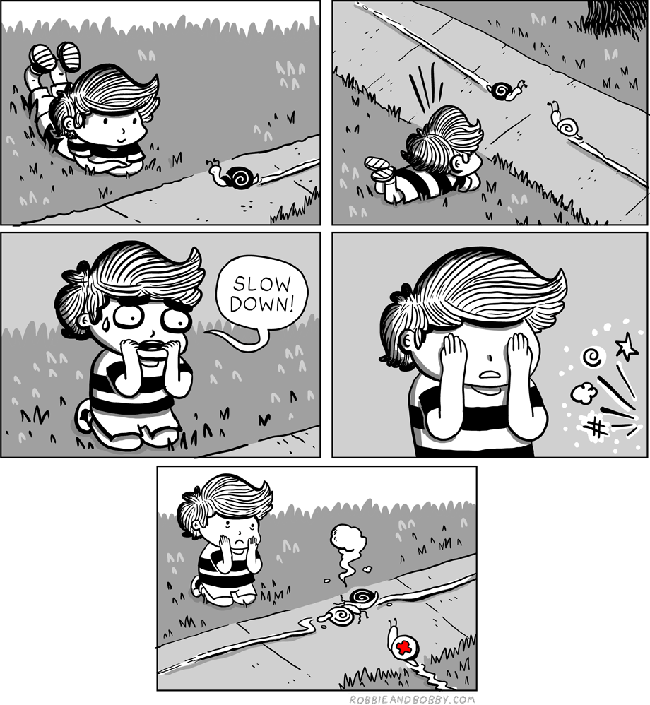 Snail Watching | Robbie and Bobby Comics | TBL part one