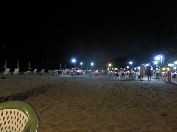Dinner on a beach in Thailand