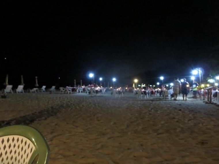 Dinner on a beach in Thailand