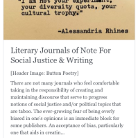 Lit Journals of note | The Black Lion Journal