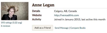 Anne Logan Goodreads
