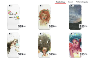 iphone cases and skins for sale, Sisshart, Sissh art, watercolor and iphone cases, Sissh Art Redbubble