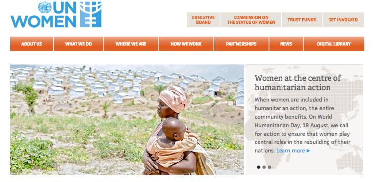 UN Women website | The Black Lion Journal