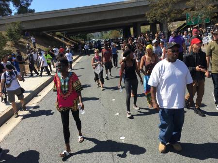 Protesters walk the street of El Cajon for Alfred Olando | El Cajon Protest | The Black Lion