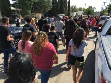 People gather in the streets of El Cajon in protest of the killing of Alfred Olango | The Black Lion