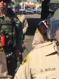 Police are armed with mace/pepper spray in anticipation for a riot in El Cajon. | The Black Lion