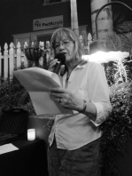 Pat Andrus reading first at TAST 2.1 at The Wine Lover in Hillcrest, San Diego, CA | The Black Lion Journal | The Black Lion