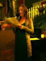 Karen Seehaus reading at TAST 2.1 at The Wine Lover in Hillcrest, San Diego, CA | The Black Lion Journal | The Black Lion