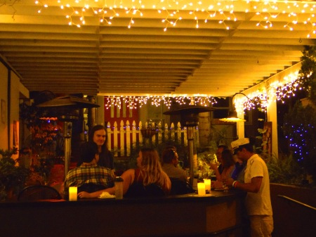 TAST At The Wine Lover In Hillcrest - The Back Patio Filled With Intimate Lowlights And A Relaxing Atmosphere Perfect For Hosting Events | The Black Lion Journal | The Black Lion | Image ©2016 Christina Lydia