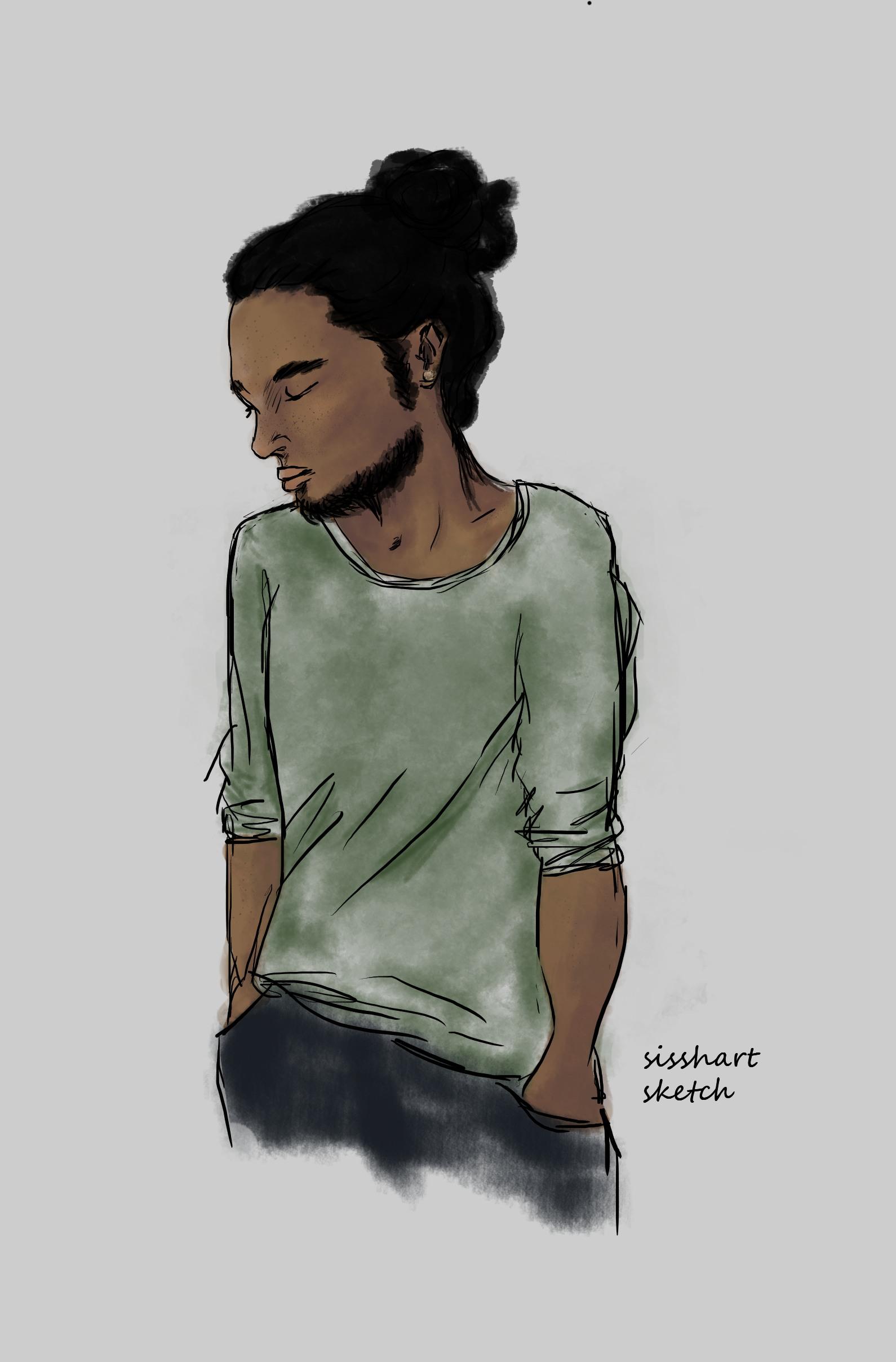Male character sketch   Sissh Art   The Black Lion Journal   The Black Lion   Black Lion
