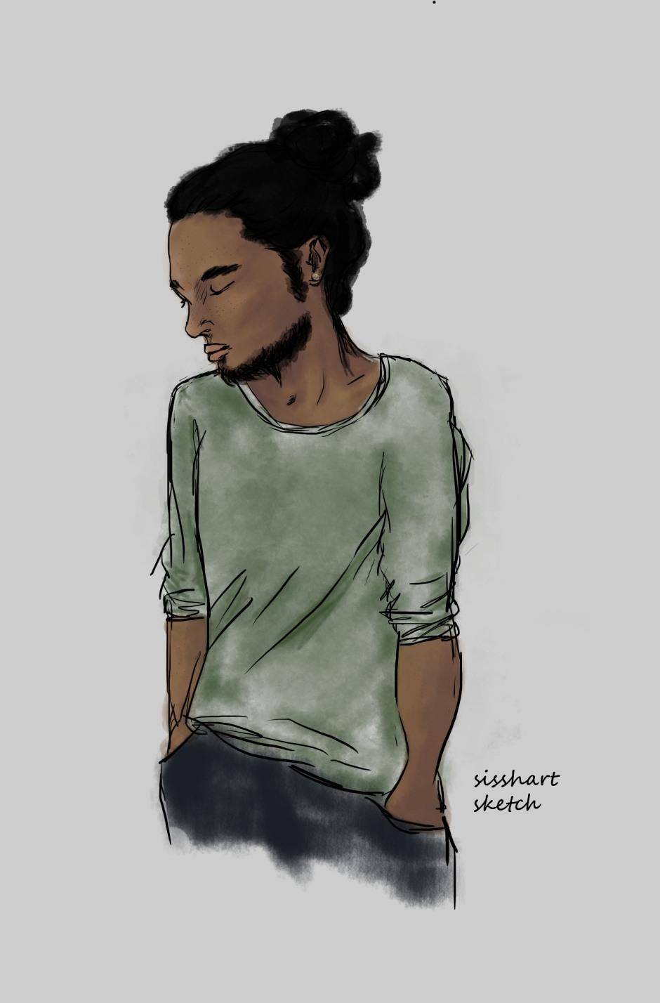 Male character sketch | Sissh Art | The Black Lion Journal | The Black Lion | Black Lion