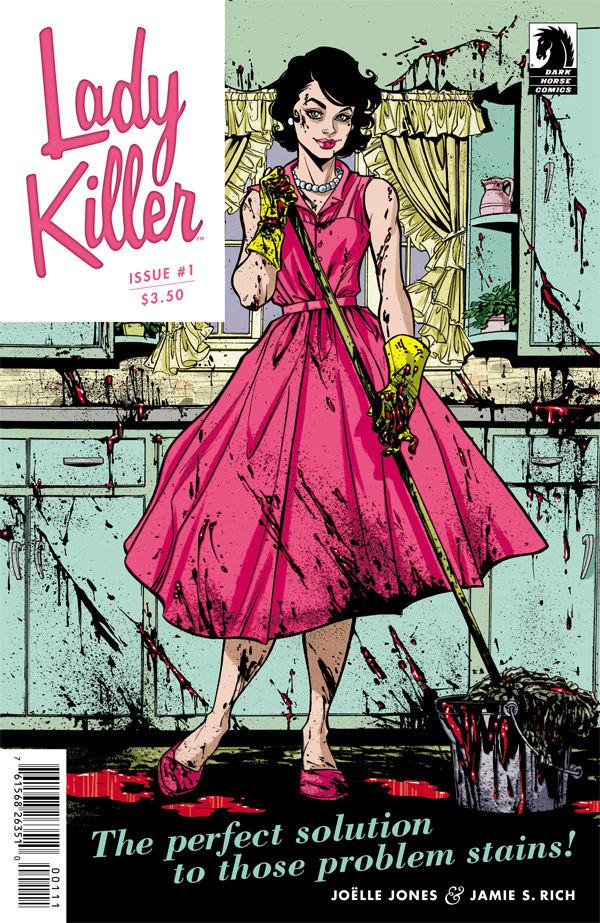 Comic Review: Lady Killer #1 by Joelle Jones • Published by Dark Horse   Dark Horse Comics   Rachel McGill   The Black Lion Journal   The Black Lion   Black Lion   1950 Housewife, Woman Superhero