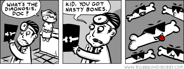 #6thDayFunnies | X-Ray • Robbie & Bobby Comics | BL | Black Lion Journal | Black Lion