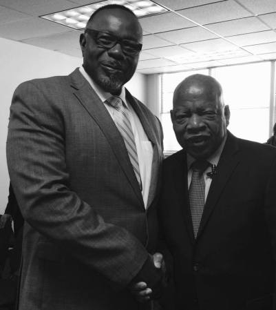 Mr. Miles with Congressman & Civil Rights Icon John Lewis