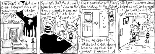 #6thDayFunnies: 'Library Lock-in 5' | Robbie & Bobby Comics | BL | Black  Lion Journal | Black Lion