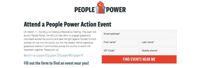 aclu-people-power-grassroots-movement-sign-up | ACLU's People Power Action Event 3/11 | BL | Black Lion Journal | Black Lion Journal