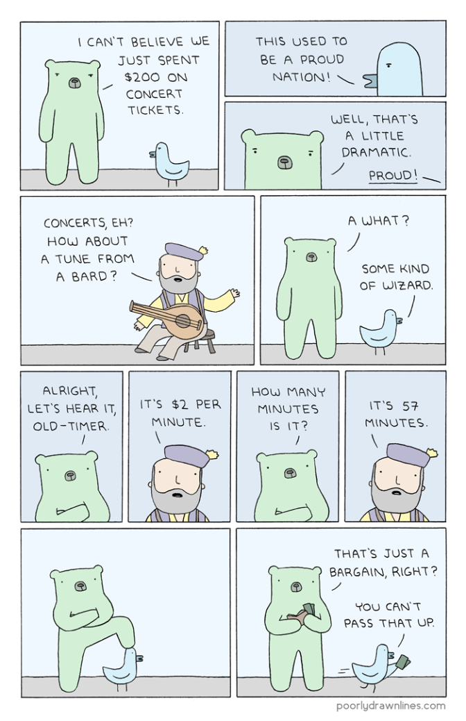 6thdayfunnies-tickets-poorly-drawn-lines-comics-and-comic-images | BL | Black Lion Journal | Black Lion