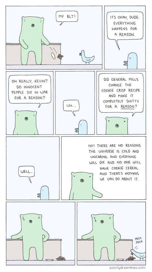 #6thDayFunnies: 'Reasons: Ernesto's Bad Day' | Poorly Drawn Lines | BL | Black Lion Journal | Black Lion