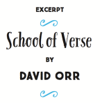 """""""Excerpt: School Of Verse By David Orr""""   Signature's 'The Writer's Guide to Poetry' #OnWriting"""