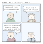 #6thDayFunnies: 'Back Then' | Poorly Drawn Lines