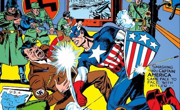 Comic Captain America Punching Hitler | Politics in Comics: Part 1 - A Brief History | Rachel McGill | BL | Black Lion Journal | Black Lion