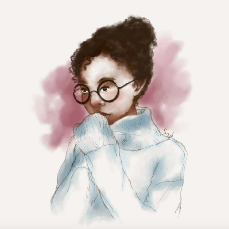 #InstagramInspiration: 'Dreams, Curls, & Glasses' | Sissh Art | Black Lion Journal