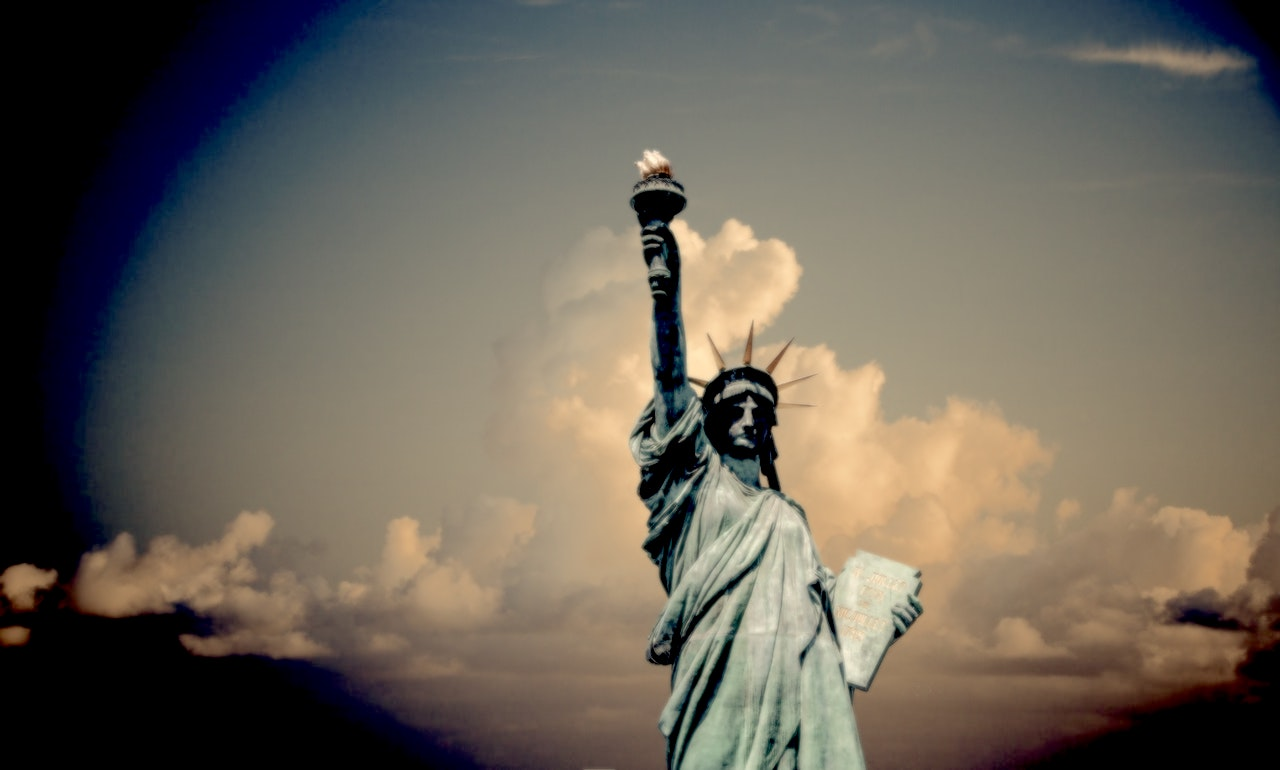 statue of liberty in response to charlottesville, virginia