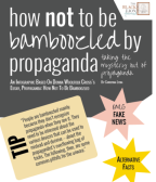 How *Not* To Be Bamboozled By Propaganda: A [Free] Infographic Based On The Essay By Donna Woolfolk Cross // Share The Love! Download Your Own