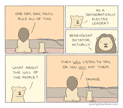 #6thDayFunnies || 'Rule' // Poorly Drawn Lines Comics | Black Lion Journal