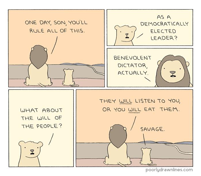 #6thDayFunnies || 'Rule' // Poorly Drawn Lines Comics | Black Lion Journal