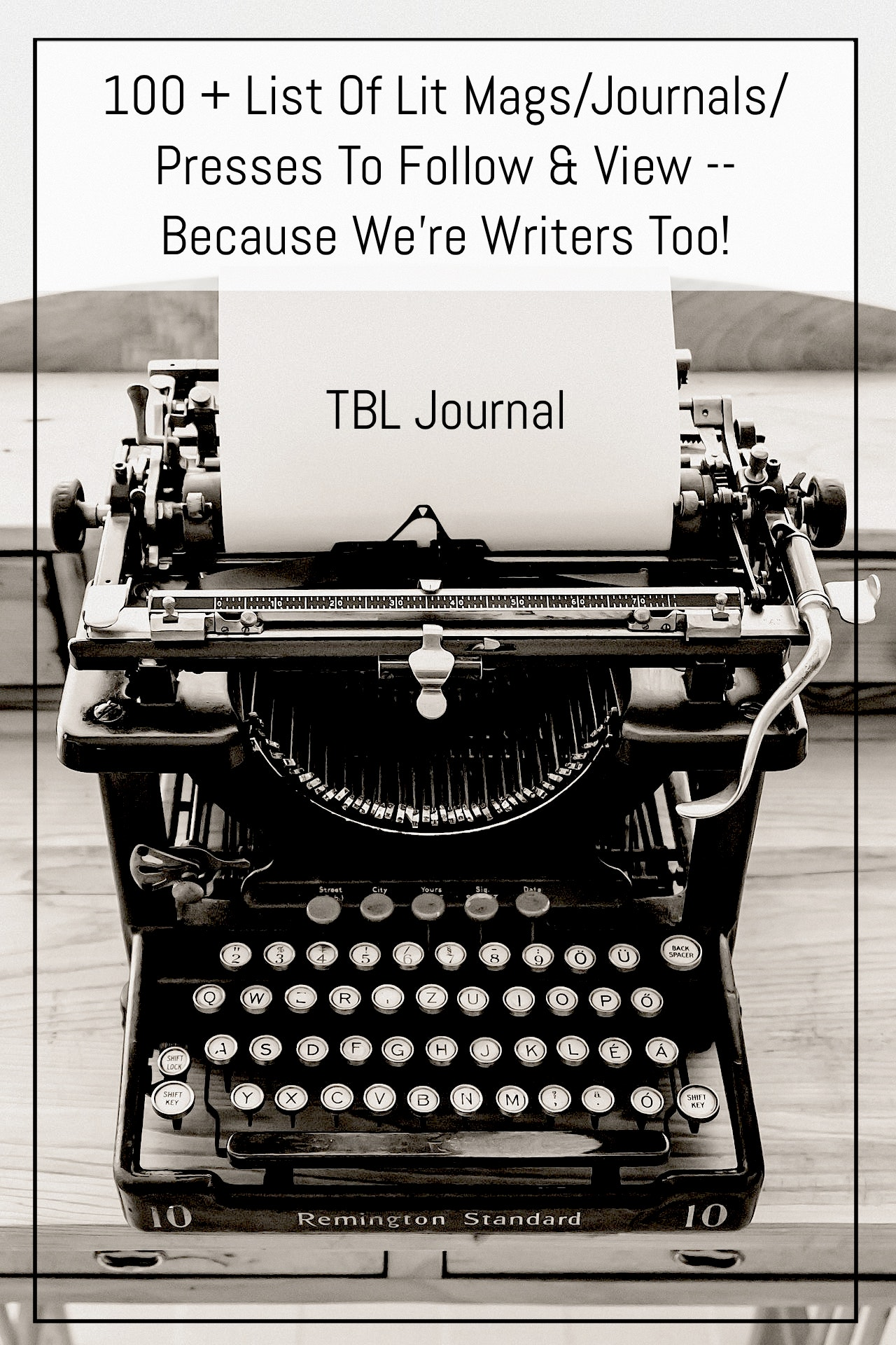 100 + List Of Lit Mags/Journals/Presses To Follow & View -- Because We're Writers Too!   Black Lion Journal