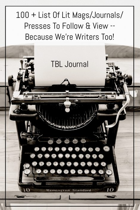 100 + List Of Lit Mags/Journals/Presses To Follow & View -- Because We're Writers Too! | Black Lion Journal