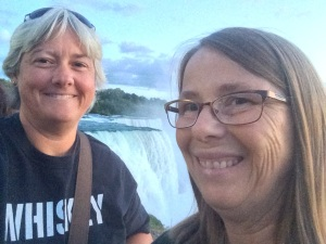 J.L. Wright and marriage partner at Niagara Falls!
