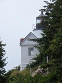 Lighthouse by the sea near Acadia National Park