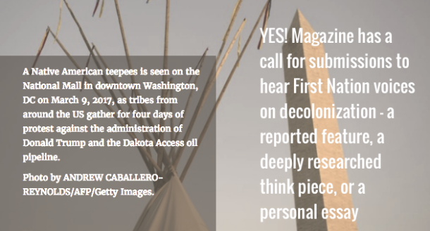 A Necessary Function -- YES! Magazine Has A Call For Submissions On Decolonization